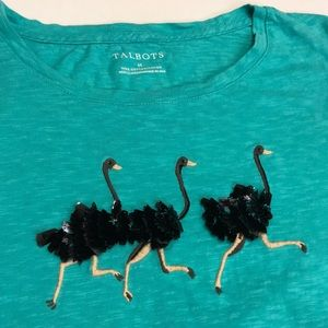 Talbots Sequined Ostrich Tee